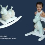 Rocking horses made of porcelain by Blue Shanghai White.