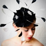 A  very original head piece by milliner Elisabeth Koch called Black Felt Flower.(Ph.Stephen Lo)