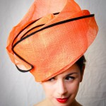 Another very original design for a head piece by milliner Elisabeth Koch called Hup Holland.(Ph.Stephen Lo)