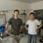 Liu Yang and his assistant Huang Zhu Wei in the laboratory