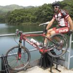 Pierre-Arnaud Le Magnan et son Chiru Laktik X0 au lac Chi Ma Wan, Hong Kong.
