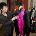 丝绸质地的男式外套