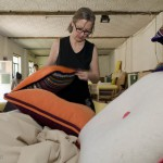 Cushions undergo a thorough inspection before they are delivered to the customers.