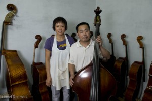 Mr Gao ZhenMin and his wife Wen YaXia in their workshop.