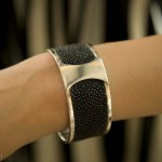 This Nicely Made in China silver and galuchat (skate skin) cuff-bracelet by Nicolas Favard costs 1800 Rmb.