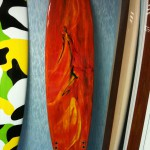 Any type of logo or pattern can be applied on surfboards.