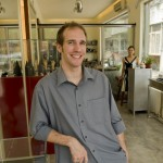 Nicolas Favard the goldsmith and silversmith in his recently opened store next to Sanlitun Village North in Beijing