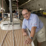 David Winter at Red Dragon Yacht Building in Xiamen, Fujian province.