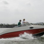 The 20ft family power boat with a 140hp Suzuki engine by Red Dragon Yacht Building.