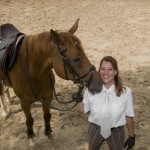 Nicole Bernard, Longma's owner with Melissa at the Sheerwood Equestrian Center in Beijing.