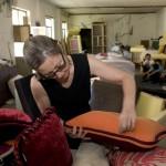 3.每一只靠垫都由Marianne Friese亲自仔细检查其质量
