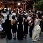 1.rechenberg在北京阿曼酒店举办时装秀。左边第五位是Kathrin.