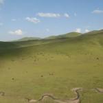 Le haut plateau de la province du Gansu dans le nord-est de la Chine.