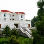 La villa du fondateur de Grace Vineyard, C.K Chan, dans le Shanxi, Chine.