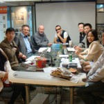 Daye Design international team with Li Zetian at the end of the table.