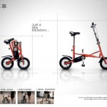 Li Zetian likes to design sport products: another example with this foldable bike.