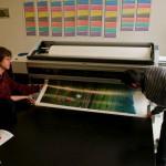 Une imprimante chez Time Machine Image Centre à Pékin.