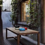 "4.Lyndon Neri & Rossana Hu设计的Structure系列桌子和""甜甜圈""漆器"