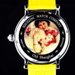 """Le dos de la montre """"Old Shanghai"""" est décoré avec une ancienne publicité chinoise. Son prix: US$ 3,500 avec une édition limitée à 50 pièces."""