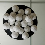 The eco-friendly substitute for the rubber content of golf balls is a water-soluble polymer (polyvinyl alcohol). These balls are non-toxic, 100% water soluble and fully biodegradable.