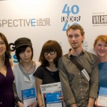 "Jesse McLin and Julie Progin of Latitude with the other winners of the Perspective magazine ""40 under 40"" competition in the Graphic/News Media category."