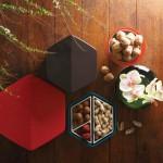 这些由美国环保局认定的可生物降解的蜜胺零食盒,其原型来自清朝(公元220-581年),是由台湾设计师Kate Chung设计的