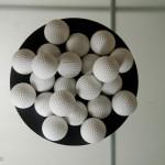 这是代替橡胶高尔夫球的环保产品,材料是可溶于水的聚合物(聚乙烯醇)。这些球是无毒的,100%溶于水,可以达到完全的生物降解