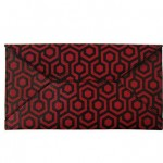 The Burgundy Coated Travel Wallet with a Japanese design created by Michelle Lai, Mischa Designs owner & designer.