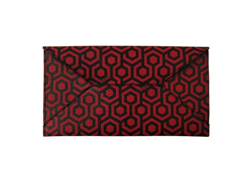 The Burgundy Coated Travel Wallet With A Anese Design Created By Michelle Lai Mischa Designs