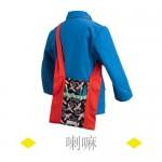 这只喇嘛僧人风格的双面背包售价220元。