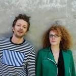 Pierre-Yves Babin et Amélie Peraud la fondatrice de Tang'Roulou la marque de vêtements et d'accessoires pour enfants et bébés.