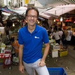 Serge Pierrard, one the two founders of Travel-Stone photographed in Hong Kong's maze-like Mid-Levels markets.