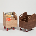 """Books on wheels"" one of Italian designer Silvia Marlia's creations for her new brand Sand is designed especially for children at the age where they like to push everything."