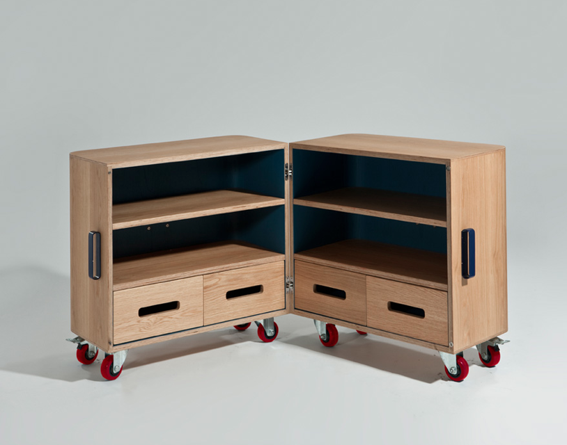 Sandu0027s Solution For Keeping Rooms Tidy: The MM2 Is A Cabinet On Wheels  Designed For