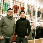 NLGX设计店的两位创始人和生意合伙人Michel Sutyadi(左)和Ed Hung(右)摄于NLGX店内