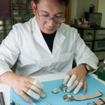 The Chinese Timekeeper watchmaker at work.