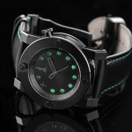 The black CTK-13 is the first watch to have jade, an ornamental stone, on its dial.