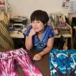 Fashion designer Carrie Chan founder of RI.by.CARRIE, creates interesting legwear and hand printed tights « nicely made in China ».