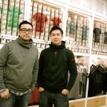 Les deux fondateurs de NLGX Design, Michel Sutyadi (G) et son partenaire Ed Hung (D) photographiés dans une boutique NLGX.