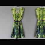 La robe 'Plongée dans la nature' est faite de soie lavée dans un bain de silicone afin de la rendre extrèmement douce au touché donnant ainsi une grande sensation de confort. Création de Katrin Reinfurt / MPMP.