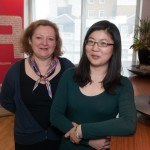 Joanna Dodd, Rochester PR Group founder and Chloe Liang the China team manager photographed in Rochester PR Group headquarters in central London.